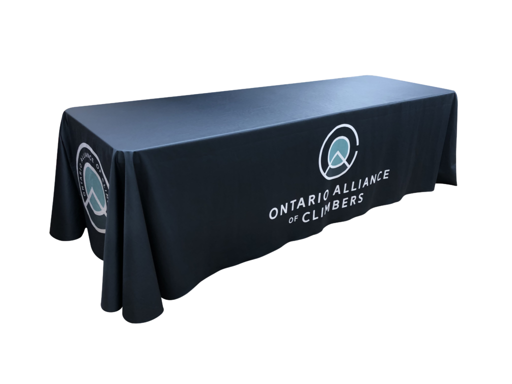 8 foot Custom Printed Table Throw
